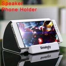 Universal Speaker Mobile Holder For Desktop Phone Stand Desk Induction Phone Holder Support Smartphone Song Playing Bracket