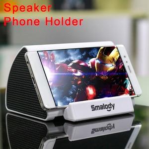 Image 1 - Universal Speaker Mobile Holder For Desktop Phone Stand Desk Induction Phone Holder Support Smartphone Song Playing Bracket