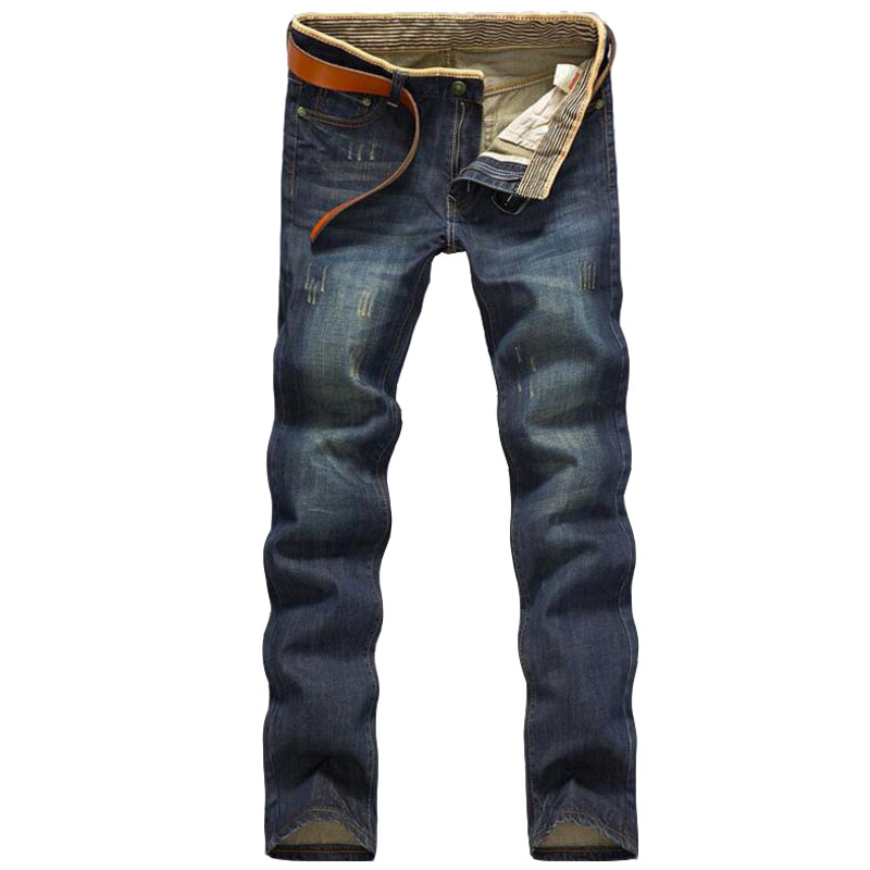 2016 Four Season Men Jeans homme Slim Straight Pant Blue Color Brand clothing Plus Size 38 Jeans hombre Men Real picture denim toonies brand jeans men four seasons high quality straight full length blue hip hop jean male denim skinny men s jean pant homme