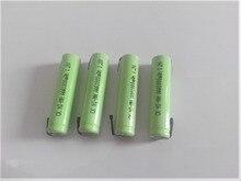 NOVO 4 PCS 1.2 V 3A 10440 NiMH bateria recarregável AAA 1000 mah NiMH bateria com pinos para Braun elétrica navalha de barbear escova de dentes