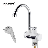 EU Plug Instant Tankless Electric Hot Water Heater Faucet Kitchen Instant Heating Tap With LED