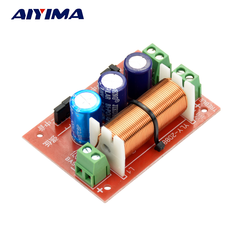 AIYIMA 1Pcs 400W Adjustment Treble Bass Frequency Divider Two Way Speaker Audio Crossover Filters
