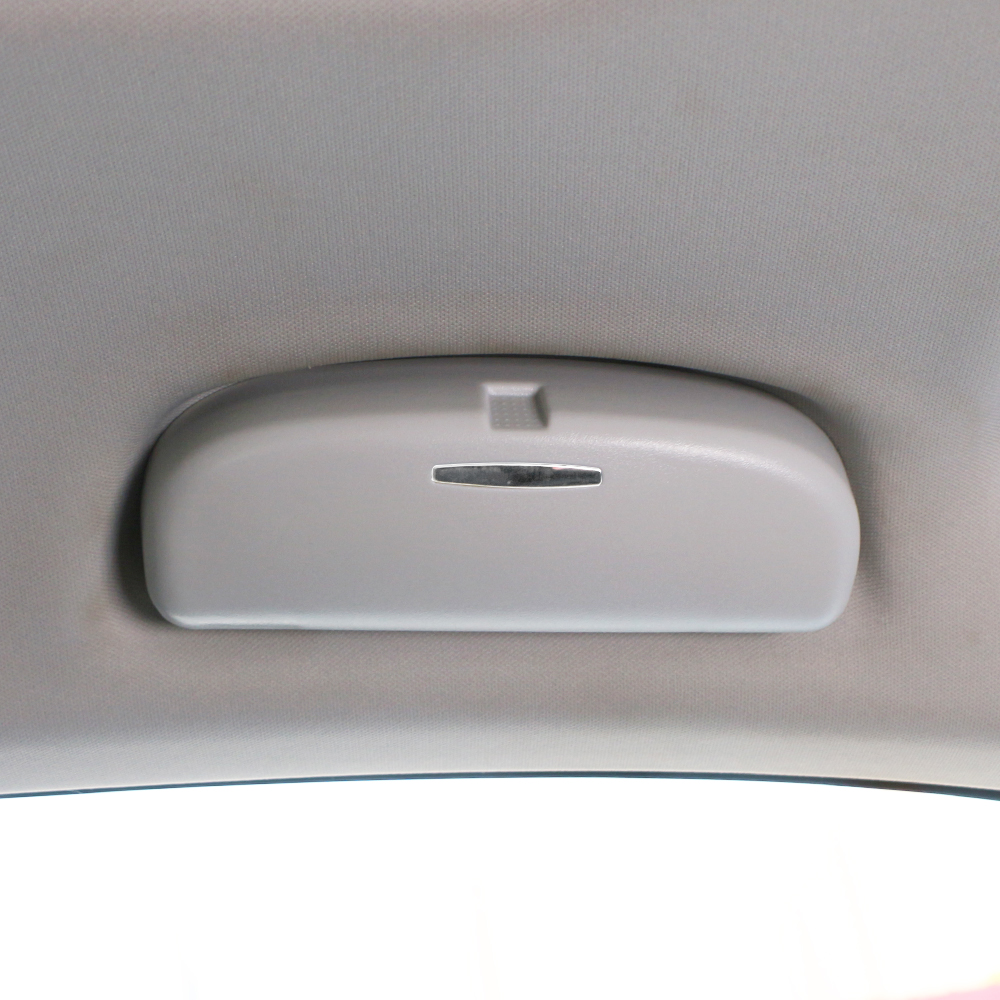 1X Portable Grey Car Auto Interior Roof Sunglasses Storage Clip Case Holder Box