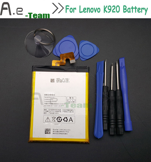 High Quality For LENOVO VIBE Z2 PRO Battery NEW 3900Mah Battery BL223 For Lenovo K920  Batterie Bateria Smartphone+tools