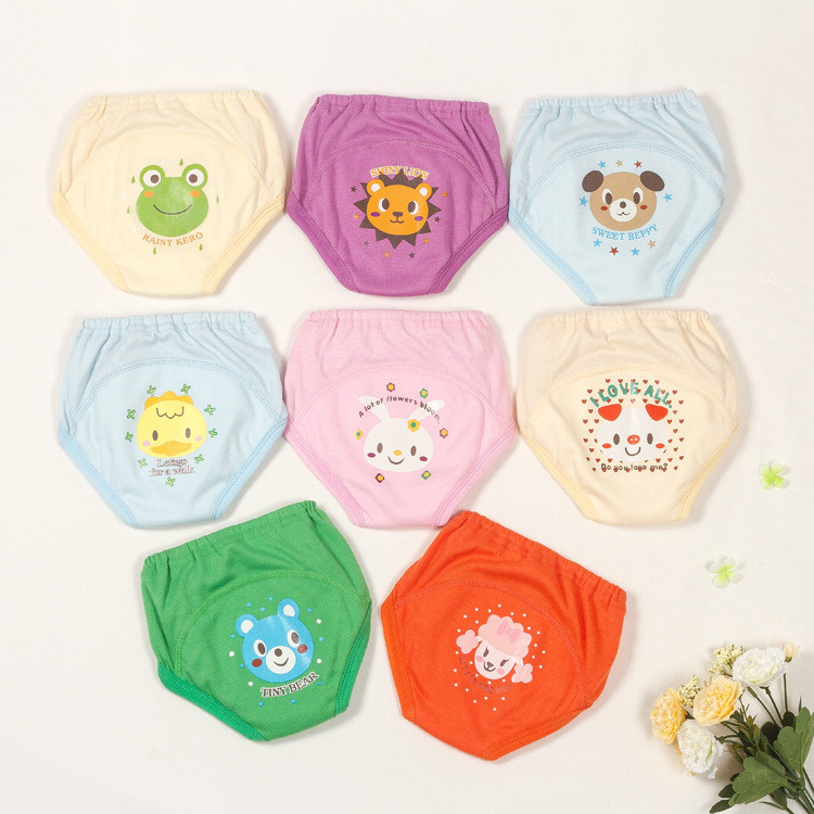4 Layers Baby Nappies For Boys Girls Underwears Briefs Infant Diapers Waterproof Training Pants Cartoon Baby PP Pants DS19