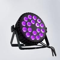 Aluminum alloy shell 18x18W RGBWA+UV 6in1 LED Par LED Luxury DMX Led Flat Par Lights dj lighting led par light