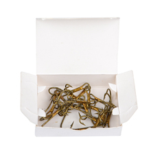 FISHKING 20PCS/Lot 1# 2# 4# 6# 8# High Carbon Steel Fishing Sharp Knife-edged Double Hooks Gold Barbed Hook Fisher Pesca Tackle