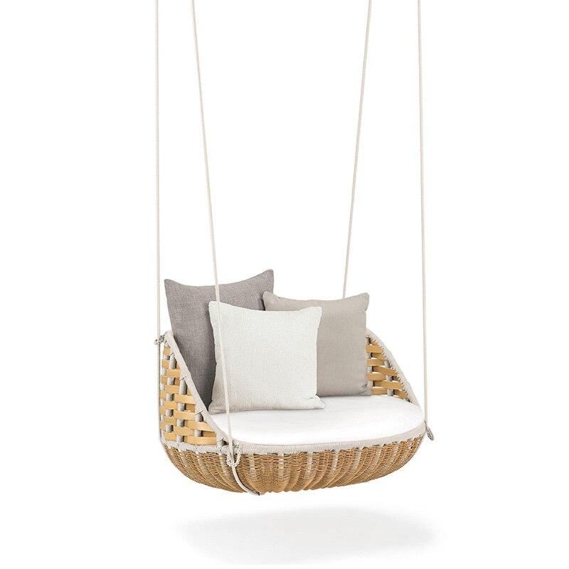 Haute qualité en plein air ou intérieur loisirs balançoire canapé suspendu baske PE rotin chaise suspendue loisirs suspendus panier chaise à bascule