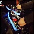 Nuevos 2016 Zapatos de Las Mujeres Los Hombres Chaussures Zapato de Luz LED Lumineuse moda Casual zapatos de hombre Para Adultos Tenis De Femme Homme pareja
