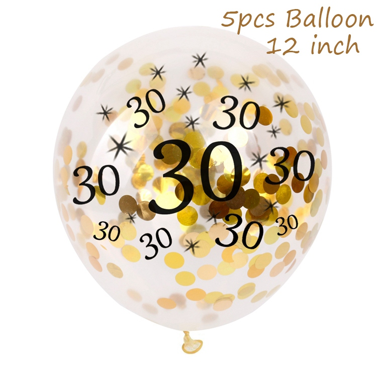 Dropwow QIFU 30th 40th 50th 60th 70th Happy Birthday Balloons Banner