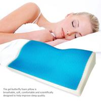 1 Pcs Memory Foam Cool Gel Pillow Summer Ice cool Anti snore Neck Orthopedic butterfly silicone Sleep Pillow Cushion For Home