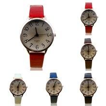 2015 hot Fashion Women's watch Faux Leather Strap Big Style Analog Dress Wrist Watch Wristwatches 1H5Y 6T4W W2E8D