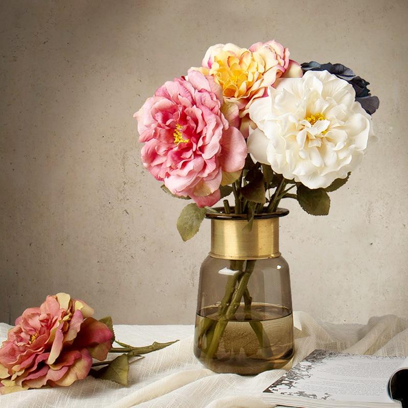 Estilo rústico Flores Falsas de Alto Grado Artificial Hermosa Rosa - Para fiestas y celebraciones