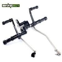 BIKINGBOY Aluminum Forward Controls Footpegs Footrests Rearsets for Harley Davidson Sporster XL883 XL1200 XL 883 1200 04 2013 12