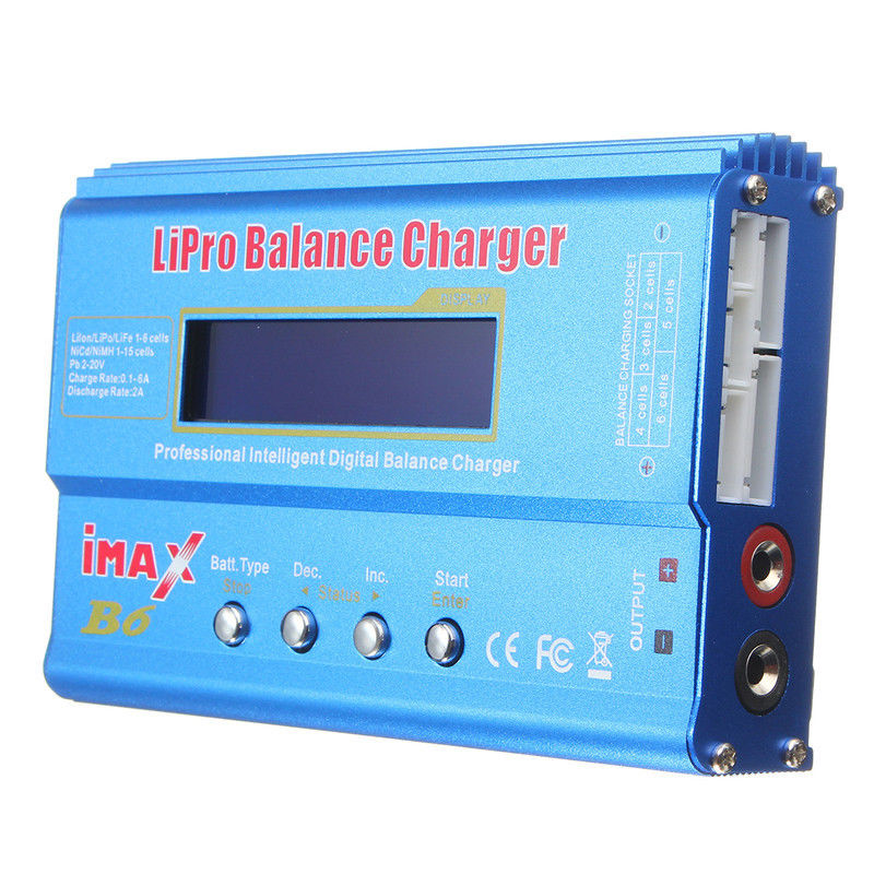 HOT- iMAX B6 LCD Screen Digital RC Lipo NiMh Battery Balance Charger + AC Adapter New