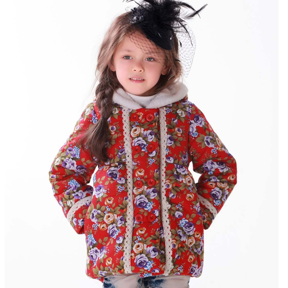 Fashion Girl Winter Parkas Children Clothing Baby ...