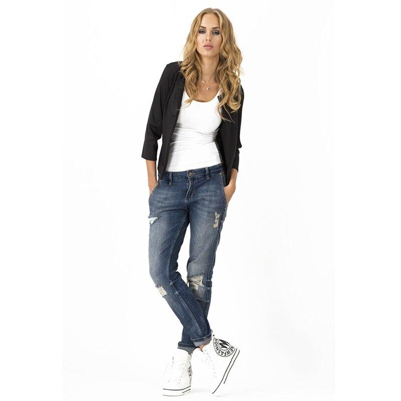 Short Three Quarter Slim Business Blazers Women Solid No Collar Open Stitch Suits Office Ladies Elegant Blazer Spring Autumn