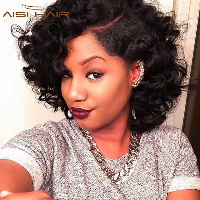 Short Brazilian Hair Weave Bundles Big Curly Hair Bob Hair Weave Aunty  Fummi Bouncy Curls Spiral Curl Hair Extensions 4 Bundles 4f3da2603f2a