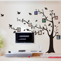 1 Set 63 86 Inch Removable PVC Art Wall Stickers Black Photo Family Tree Wall Decal