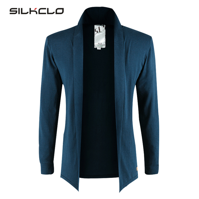 Open Stitch Men's Extended T Shirt 2016 Spring Brand Clothing Casual Elegant Cardigan Shirt Pure Color T-shirts For Men Big Size