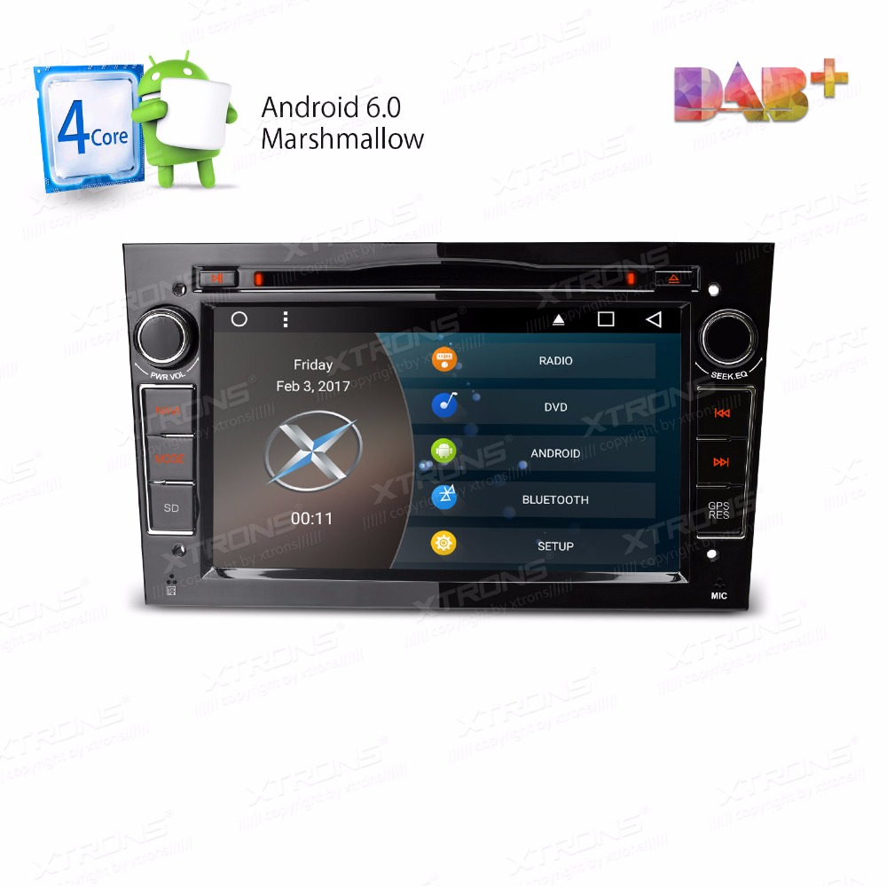 Xtrons 2 din 7 android 6 0 car dvd player free maps gps navigate for opel