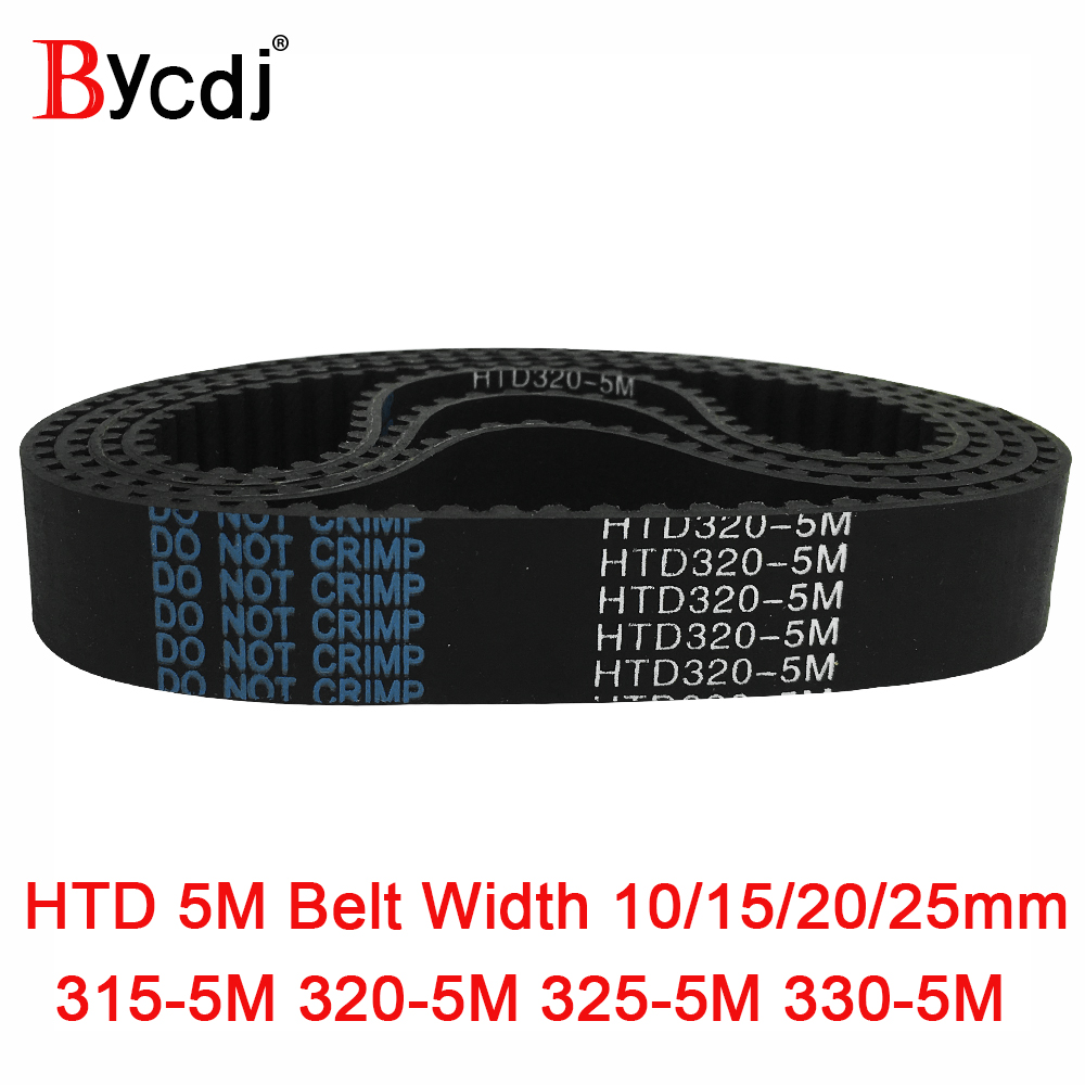 Arc HTD 5M Timing belt C=315/320/325/330 width10/15/20/25mm Teeth 63 64 65 66 <font><b>HTD5M</b></font> synchronous Belt 315-5M 320-5M 325-5M 330-5 image
