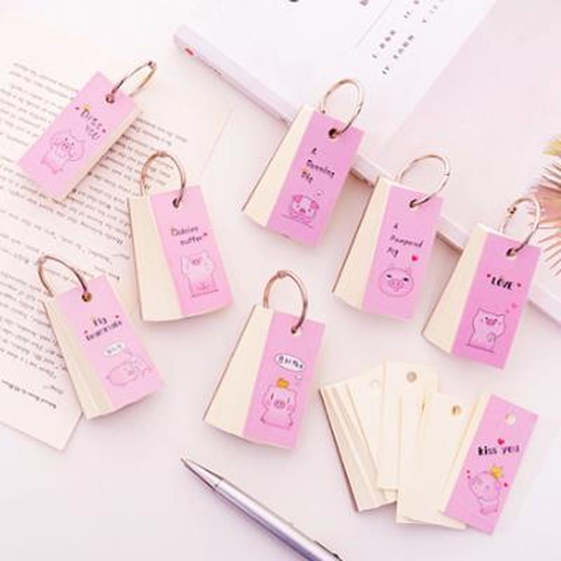Piglet Planner Cute Pocket Book Stationery Pocket Planner Notepad Poket Books Flip Book  Kawaii Mini Agenda Student Planners