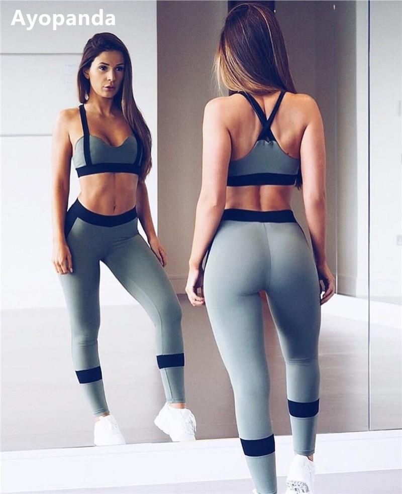 Ayopanda Hot Sale 2Pcsset Women Yoga Sets Fitness -4327