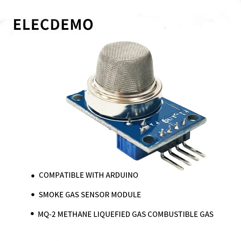 MQ-2 Smoke Gas Sensor Module Compatible With Arduino Methane Liquefied Gas Combustible Gas Detection Function Demo Board