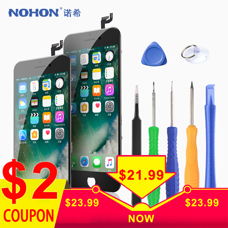 Original NOHON LCD For iPhone 6 6S 7 8 Plus Screen Assembly With Frame 3D Digitizer Display 3D Force Mobile Phone LCDs image