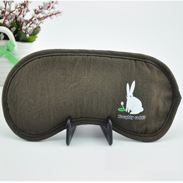 Viaggi cartone animato coniglio aiuti eye mask copertura calda