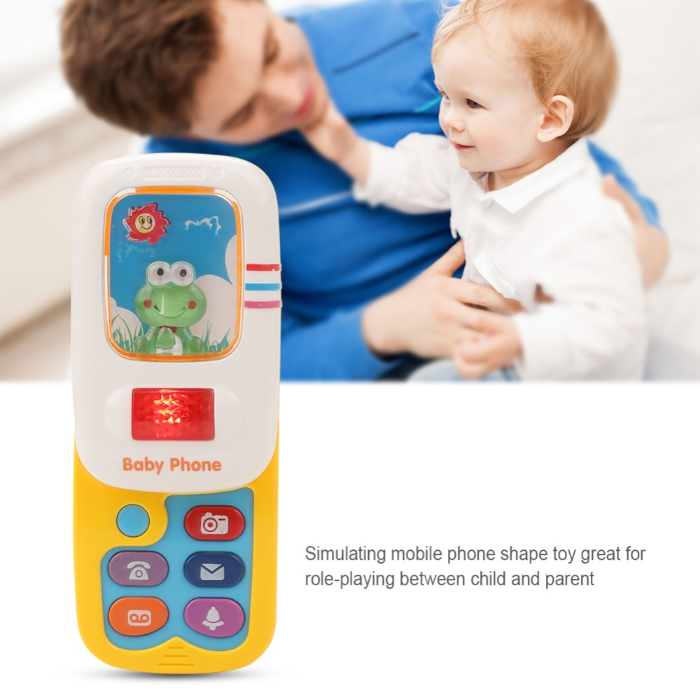 Funny Slider Phone Toys Baby Learning Study Musical Sound phone Children Educational Toy Mobile Phone electric image
