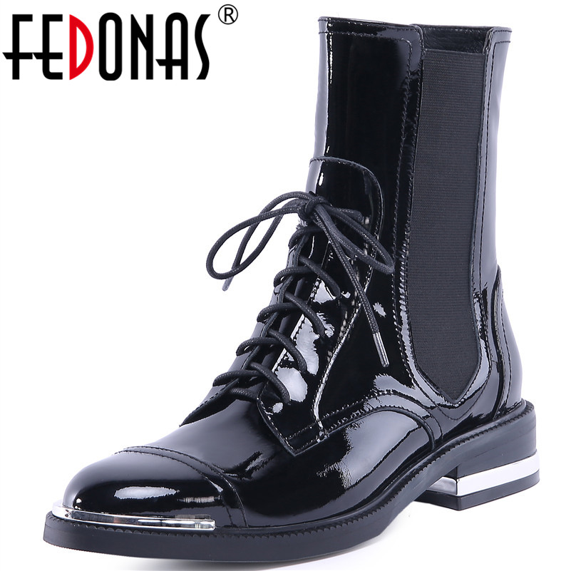 FEDONAS1Fashion Women Ankle Boots Autumn Winter Warm Genuine Leather High Heels Shoes Woman Round Toe Cross