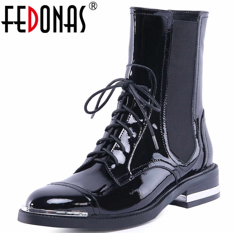 4996c68bbd13 FEDONAS1Fashion Women Ankle Boots Autumn Winter Warm Genuine Leather High  Heels Shoes Woman Round Toe Cross