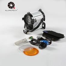 ALUMOTECH 150W Светодиодный точечный светильник с беспроводным затемнением 3200 K/5600 K Точечный светильник для студии Fresnel светодиодный светильник 3200/5500K для фото-и видеосъемки светильник