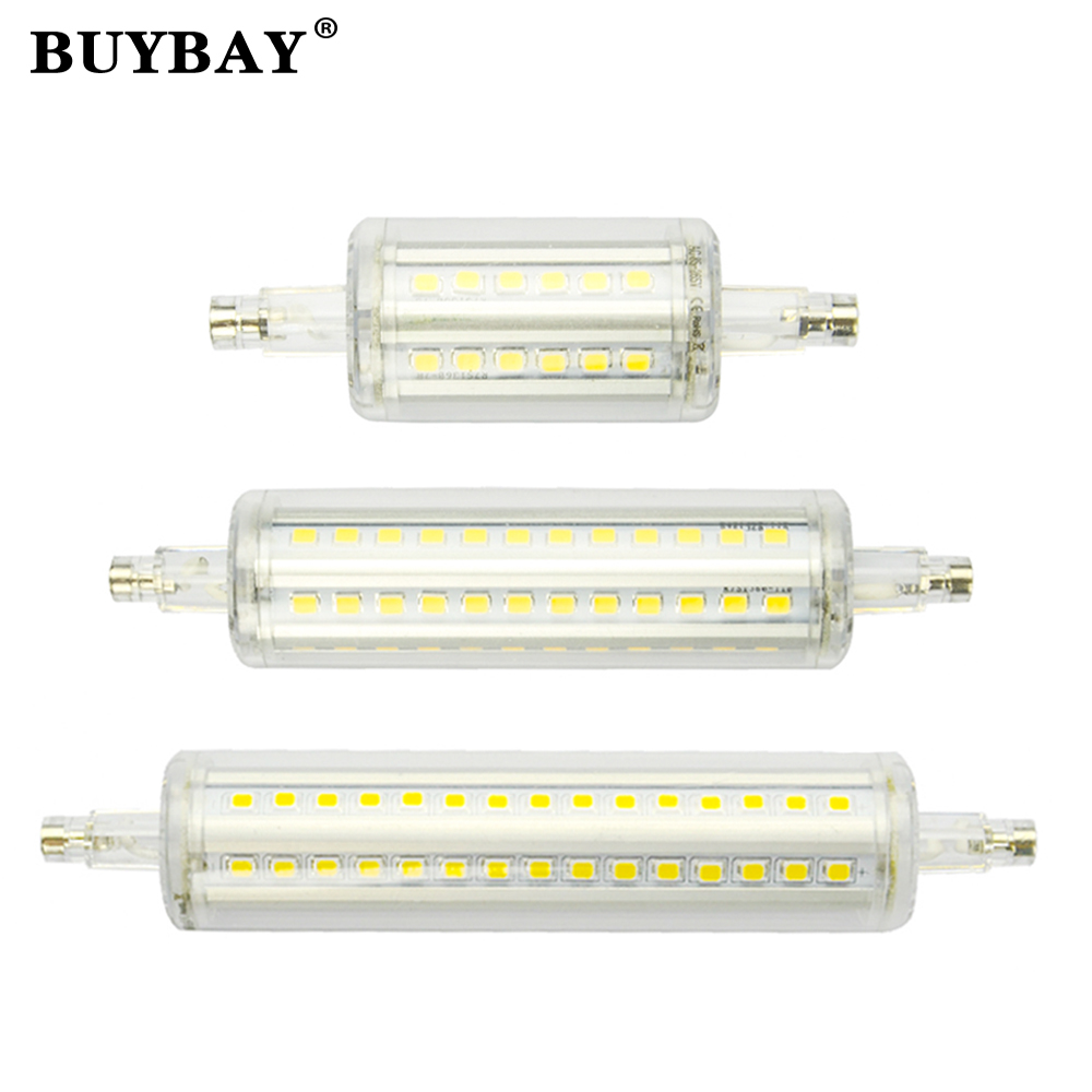 high bright dimmable 78mm 118mm r7s led lamp spotlight 5w 10w smd 2835 r7s led bulb 85 265v. Black Bedroom Furniture Sets. Home Design Ideas