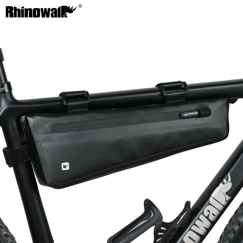Rhinowalk Bike Triangle Frame Bag Full Waterproof Front Tube Cycling Bag 2.8L for Road MTB Foldable Bike Storage Tool Panniers-in Bicycle Bags & Panniers from Sports & Entertainment