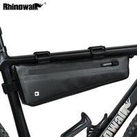 Rhinowalk Bike Triangle Frame Bag Full Waterproof Front Tube Cycling Bag 2.8L for Road MTB Foldable Bike Storage Tool Panniers
