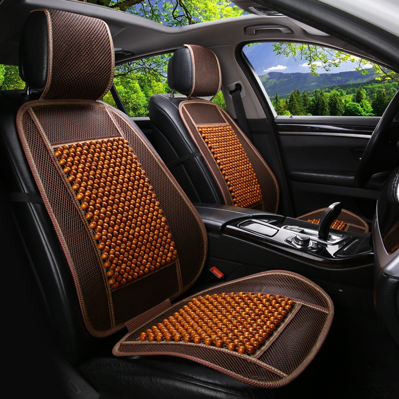 Summer air cushion car seat single wooden bead sheet environmental protection breathable exquisite workmanship ...