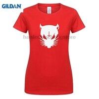 GILDAN Nueva Die Antwoord Ratas Estado Grupo de Rap Delirio Logotipo de las mujeres negro T-Shirt Tamaño S A xl Camisetas de La Moda de Verano Recta 100%