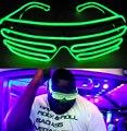 3 Modos de Controle de Som Intermitente EL LEVOU Copos Luminosos Festa Iluminação de Incandescência Colorido Brinquedos Clássicos Para A Dança DJ, Festa máscara
