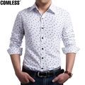Hot sale Free Shipping 2017 Fish Bone Embroidery Mens Slim Fit Unique Neckline Stylish Dress Long Sleeve Shirts Men Dress Shirts
