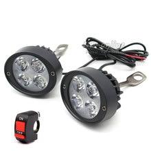 2Pcs Car External Headlight 24W 3000LM Motorcycle Fog DRL Headlamp Spotlight Hunting Driving Light High Brightness Light