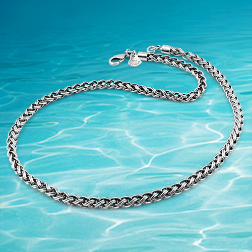 Retro lantern Thai Silver Necklace 3.5MM20-22-24inch Corsair Men's necklace.Hollow out keel fashion necklace