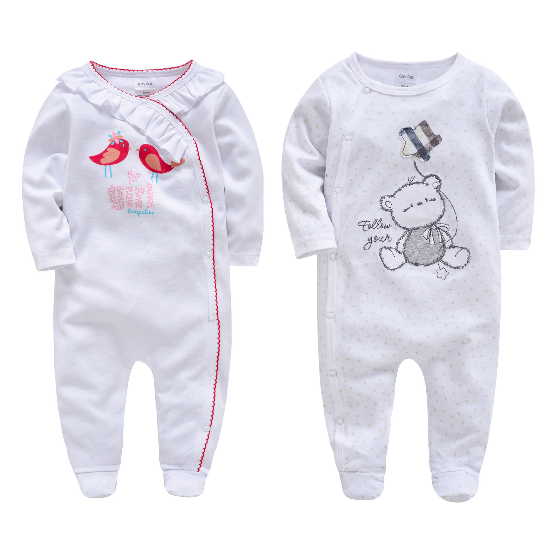Morningtwo Newborn Baby Boys and Girls Romper Clothes Long Sleeve Jumpsuit Cute Animal Comfortable Clothing For New Born Babies ...