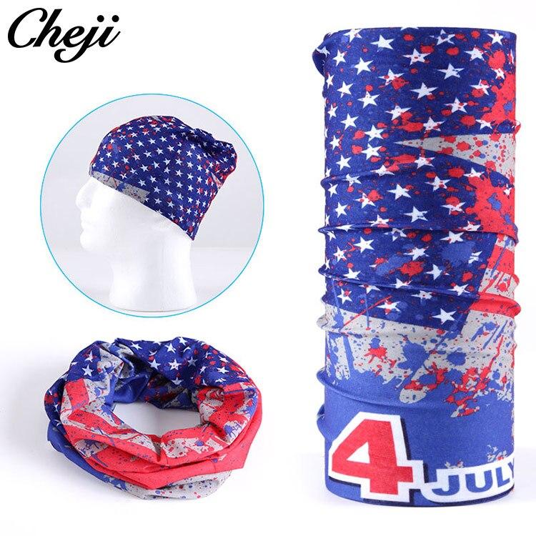 2018 CHEJI Bandanas ourdoor sports Masks Men flag the Stars and Stripes Seamless Hip hop Headwear Magic Scarf Headbands