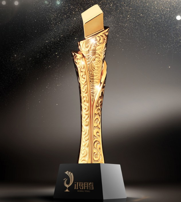 High quality!DIY Resin trophy, gold plated high-grade metal trophy, Outstanding trophy,Free shipping gold mtv trophy replica 1 1 size statue moonman prop high quality silver plated 1 1kg