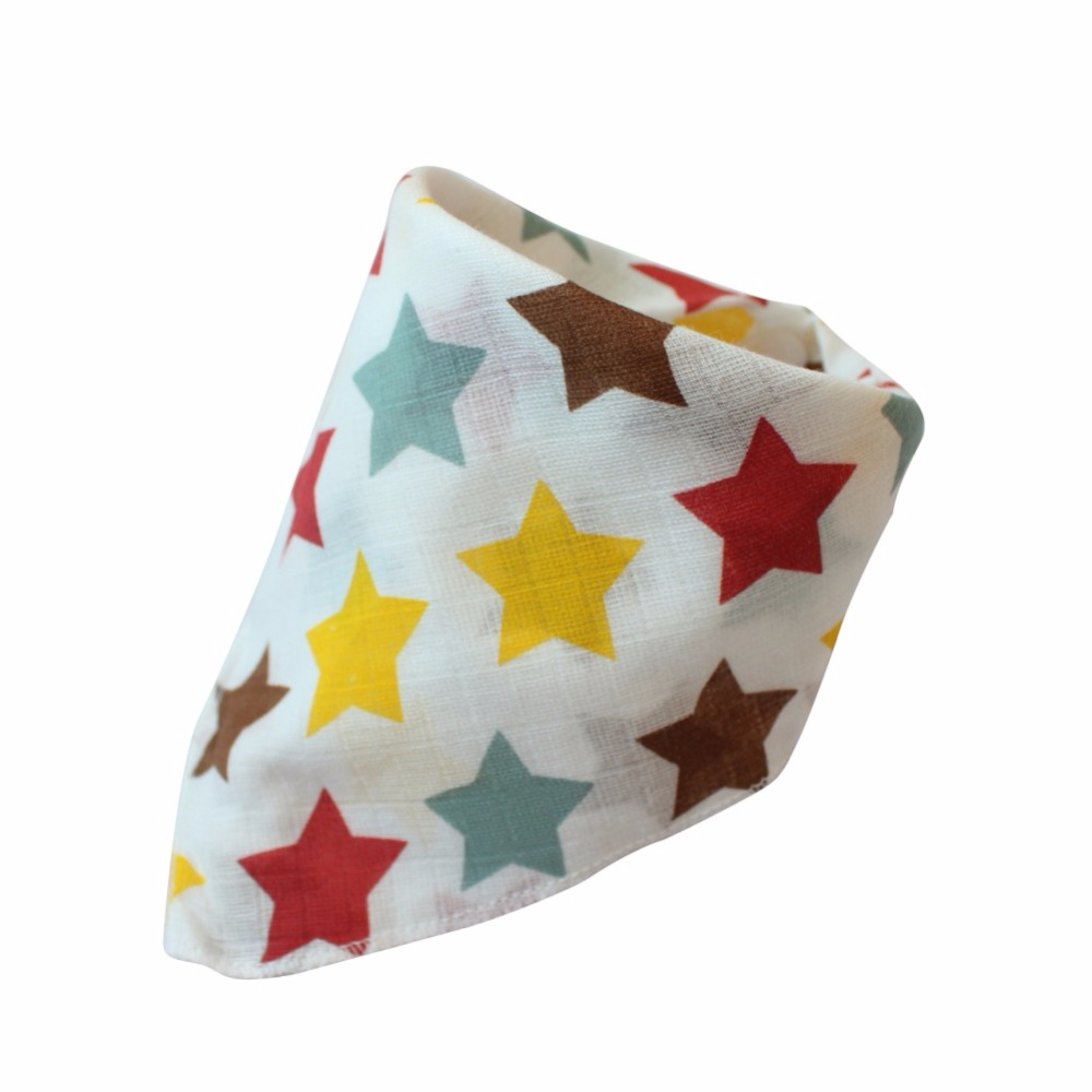 Baby Bibs High Quality Triangle Double Layers Cotton Cartoon Animal Baby Bibs Dribble Bibs 19 Style Pattern