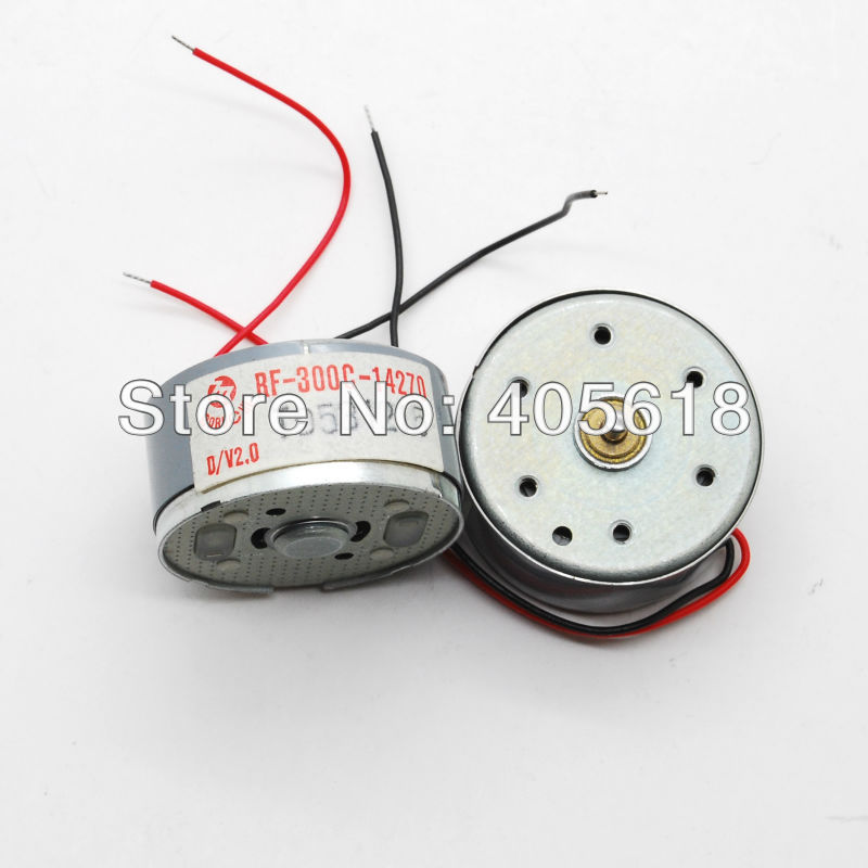 10pcs new dc 3v 0 6v 5v motor rf 300c 14270 low voltage for Low speed dc motor 0 5 6 volt