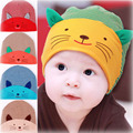 Cute Kawaii Print Cat Hats Beanies For Toddler Baby Girl Boys Soft Striped Cotton Winter Ear Warmer Caps Accessory